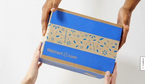 Walmart package changing hands