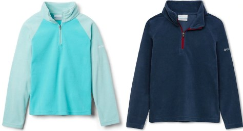 Two styles of girls fleece jackets