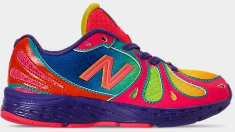 Rainbow colored girls shoe