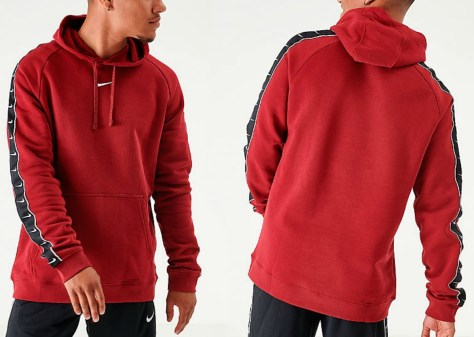 Nike brand men's hoodie at two angles