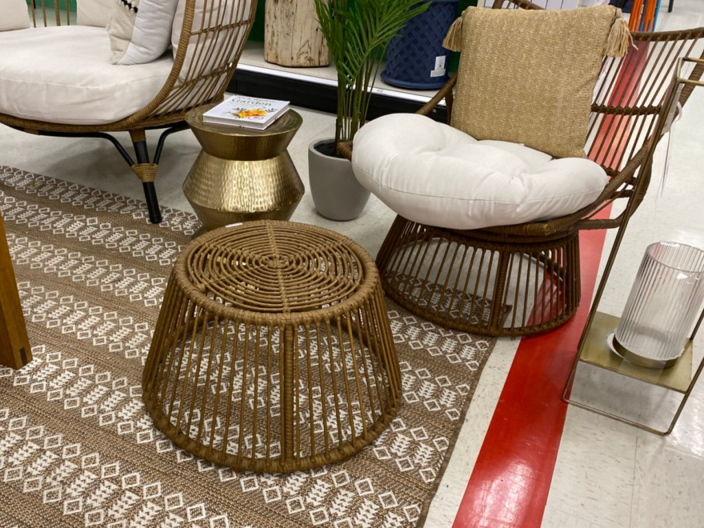opalhouse patio chair ottoman set