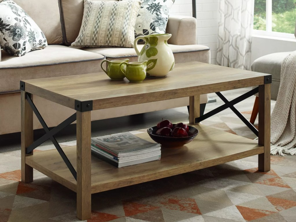 rustic farmhouse coffee table only 117