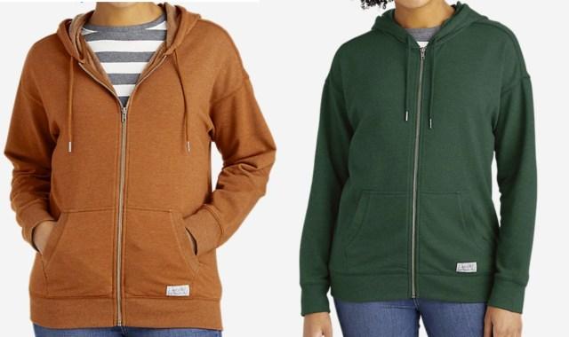 women wearing Eddie Bauer brand hoodies