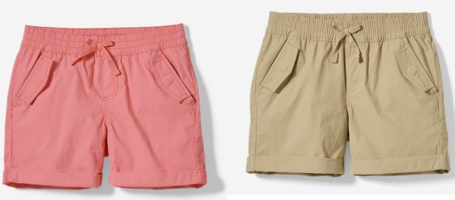 Two styles of Eddie Bauer shorts for girls