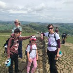 Hip2trek stood at the Mam Tor trig point