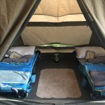 inside tent sleeping compartment