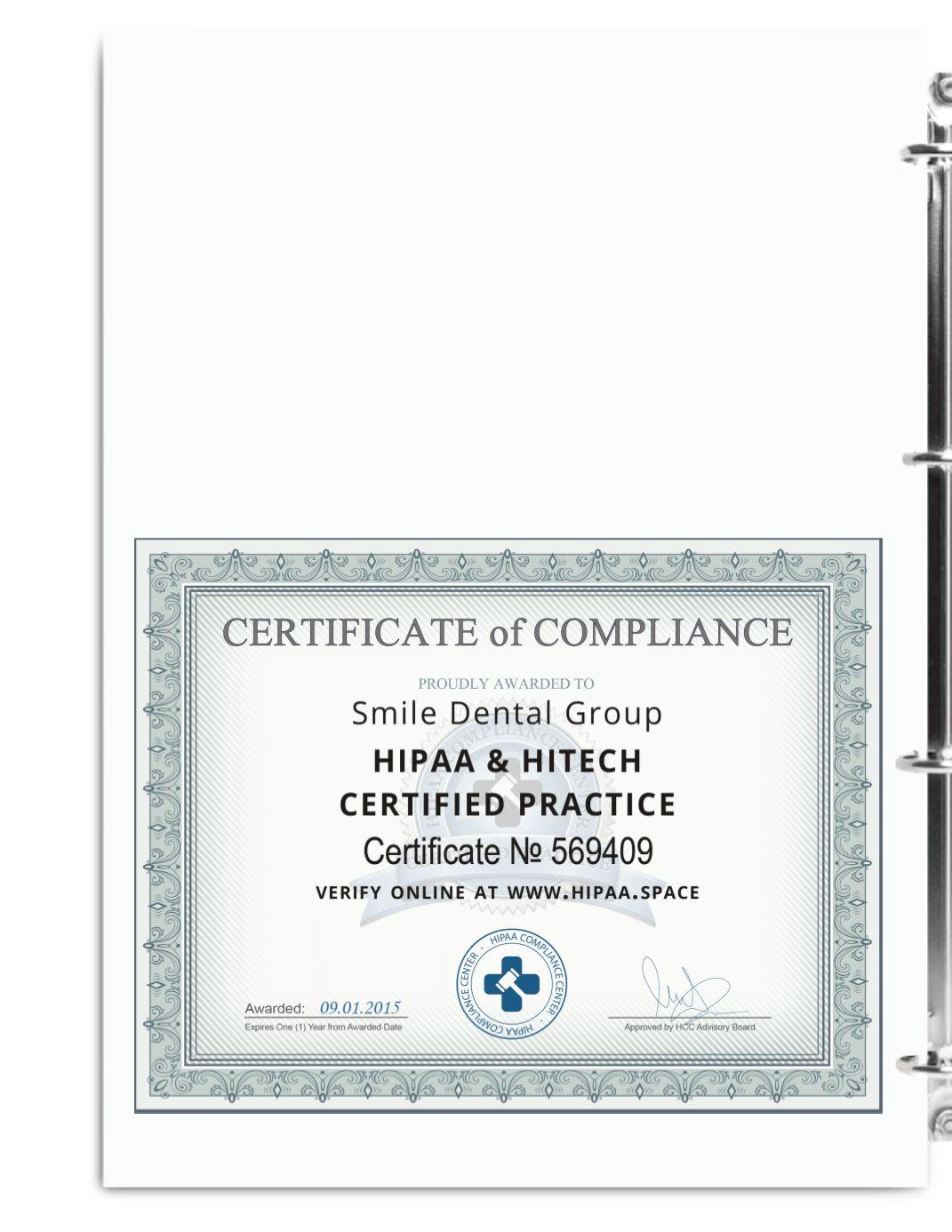 HIPAA Compliance Binder Demo