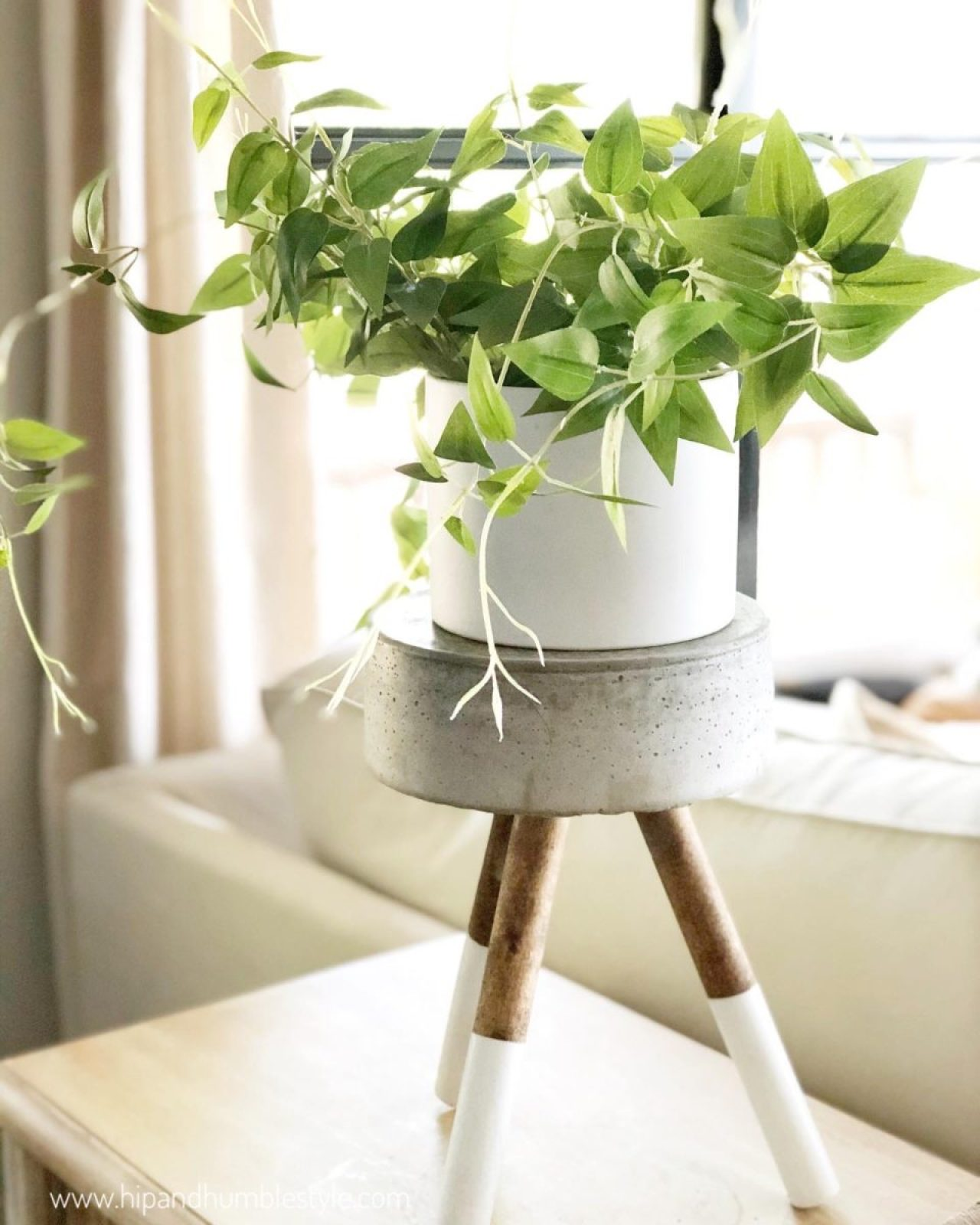 How to Make a Concrete Plant Stand by Hip and Humble Style
