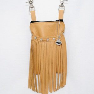 Saddle tan cell phone hip bag