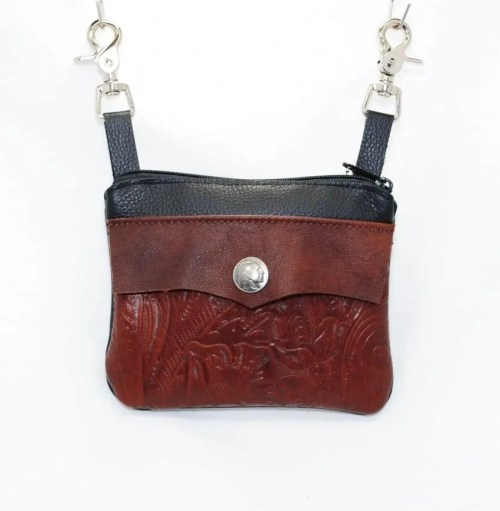 mahogany tooled pocket