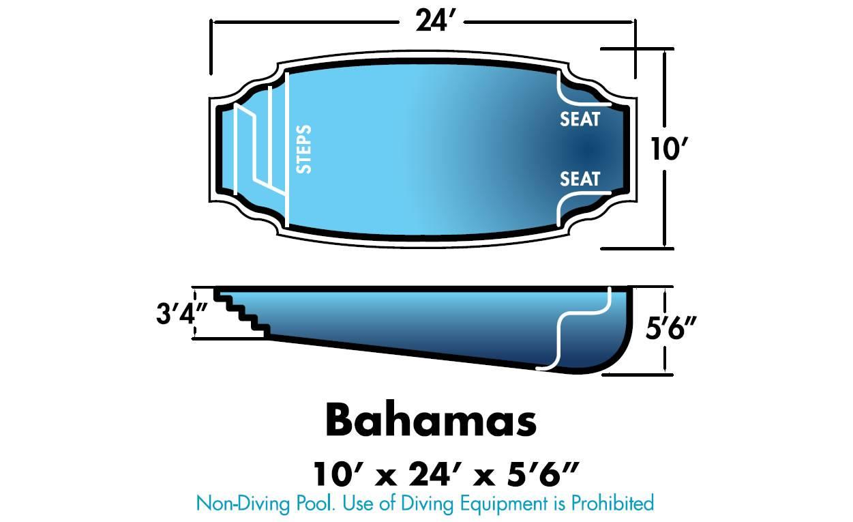 Bahamas Fiberglass Pool