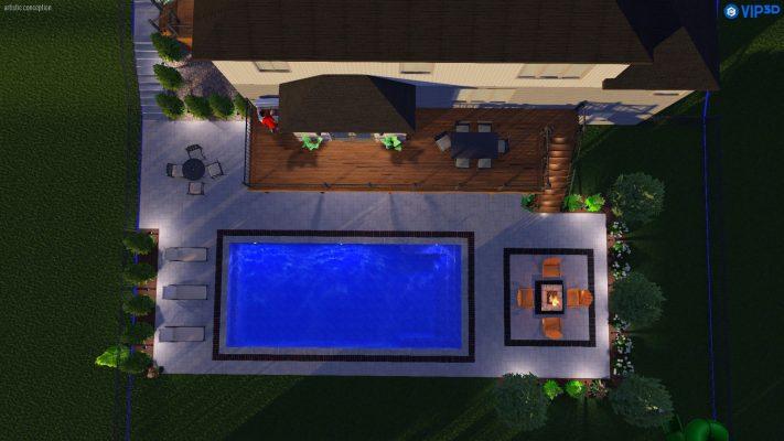 Aerial View Of Swimming Pool Design