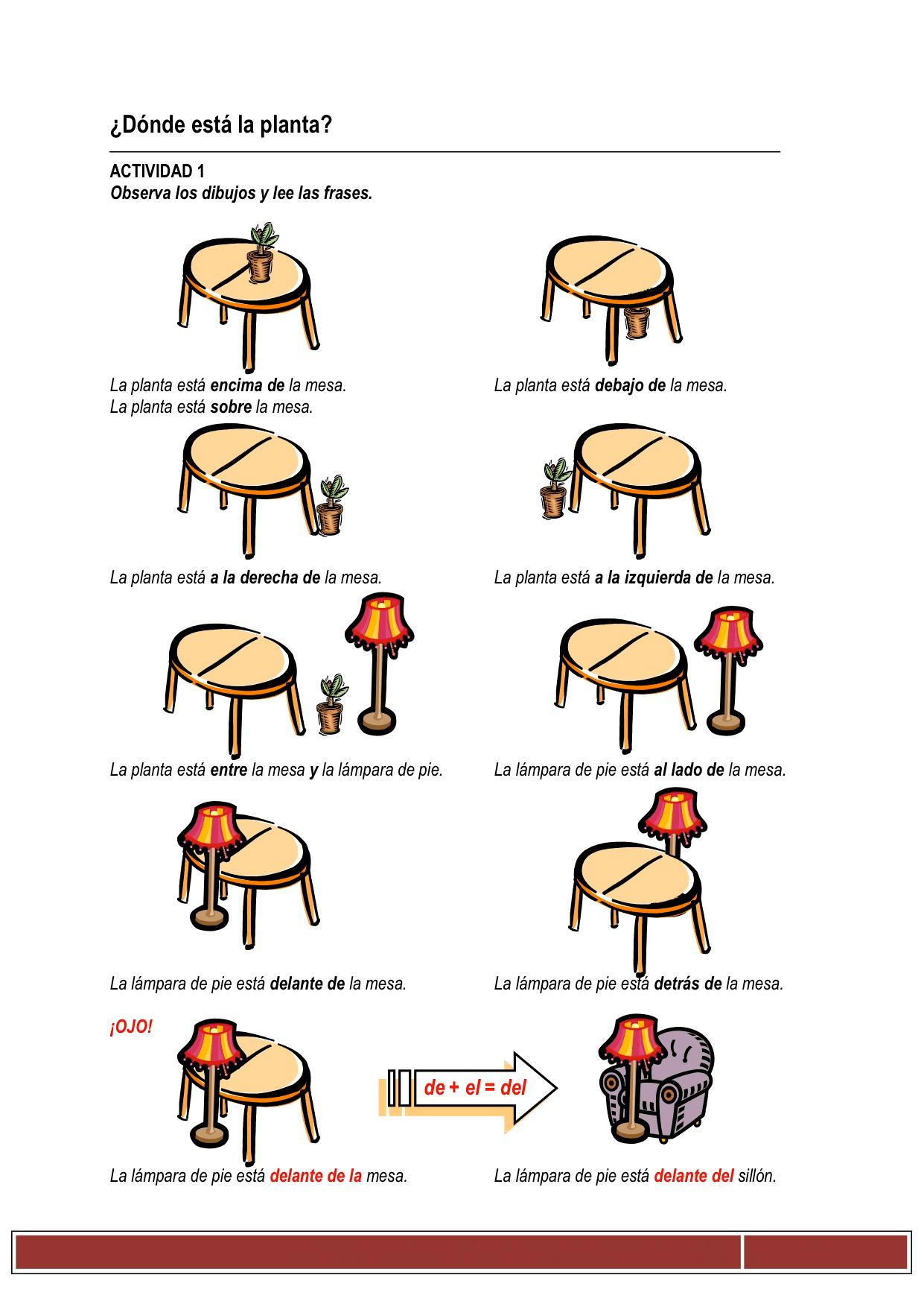 Vocabulario La Casa Y Los Muebles