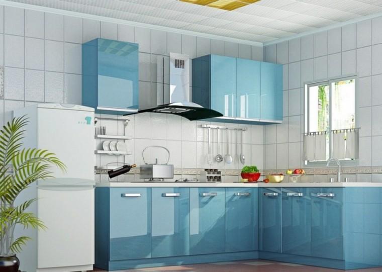 bonita-cocina-muebles-lacados - Tu especialista en pintura en Palencia