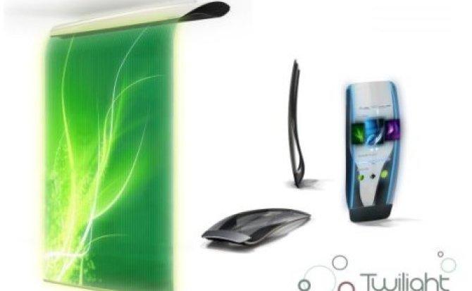 Concepto: purificador de aire donde puedes ver vídeos e imágenes en línea