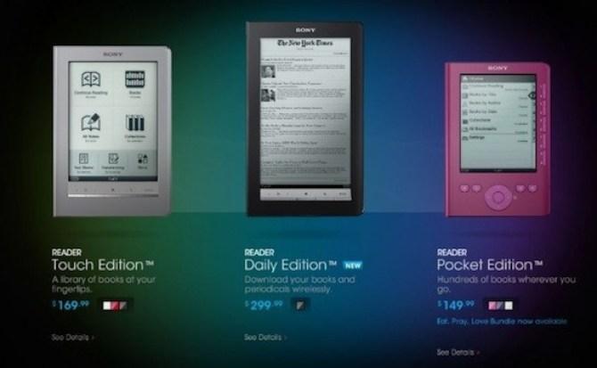 Sony baja el precio de sus eReaders