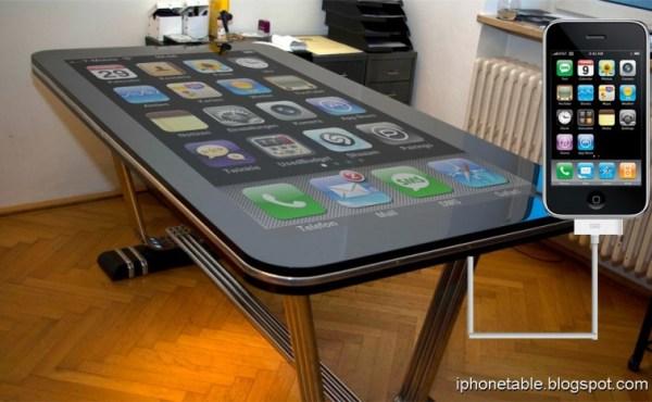 """Mesa multitouch de 58"""" corriendo iOS hace que el iPad se acompleje"""