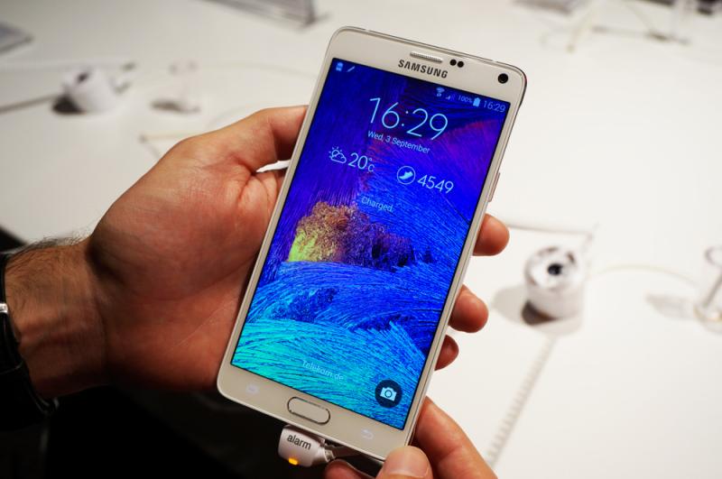 La pantalla del Samsung Galaxy Note 4 es la mejor del mercado