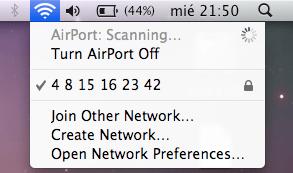 El nombre de la red Wifi de Axel