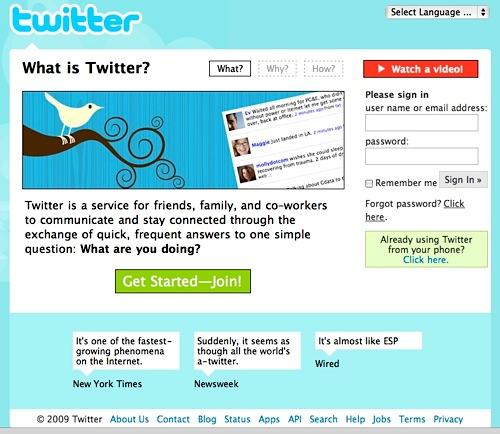 Twitter Home