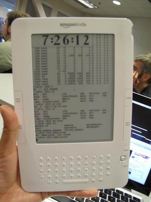 Kindle 2 corriendo Ubuntu