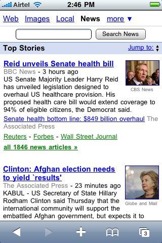 Google News Mobile