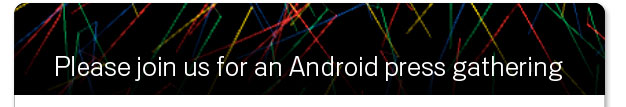 Invitación Google evento Android post
