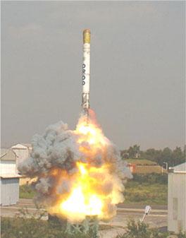 Pruebas misil indio Shaurya