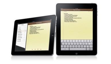 iPad interfaz Notas