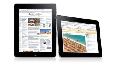 iPad corriendo Safari