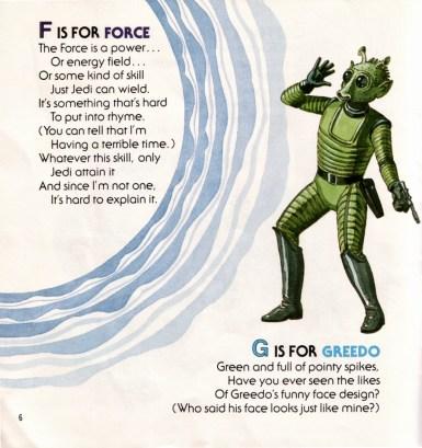 La F de Fuerza y la G de Greedo