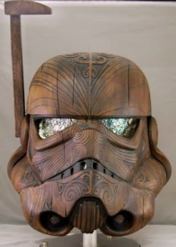 Casco maorí de Daniel Logan