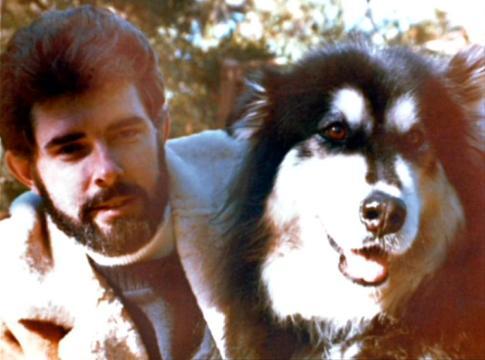 George Lucas con su perro Indiana