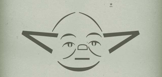 The force of Typography - Yoda