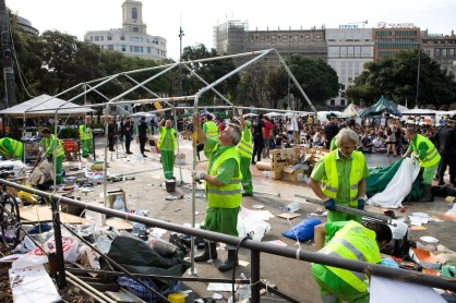 Desalojo acampada Barcelona 14