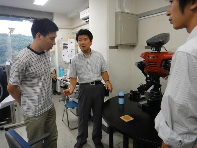 Robots en laboratorio