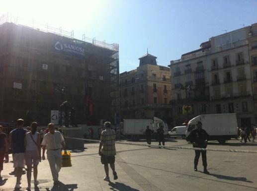 Puerta del Sol, cerrada