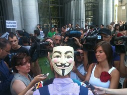 Periodistas en Plaza de Oriente