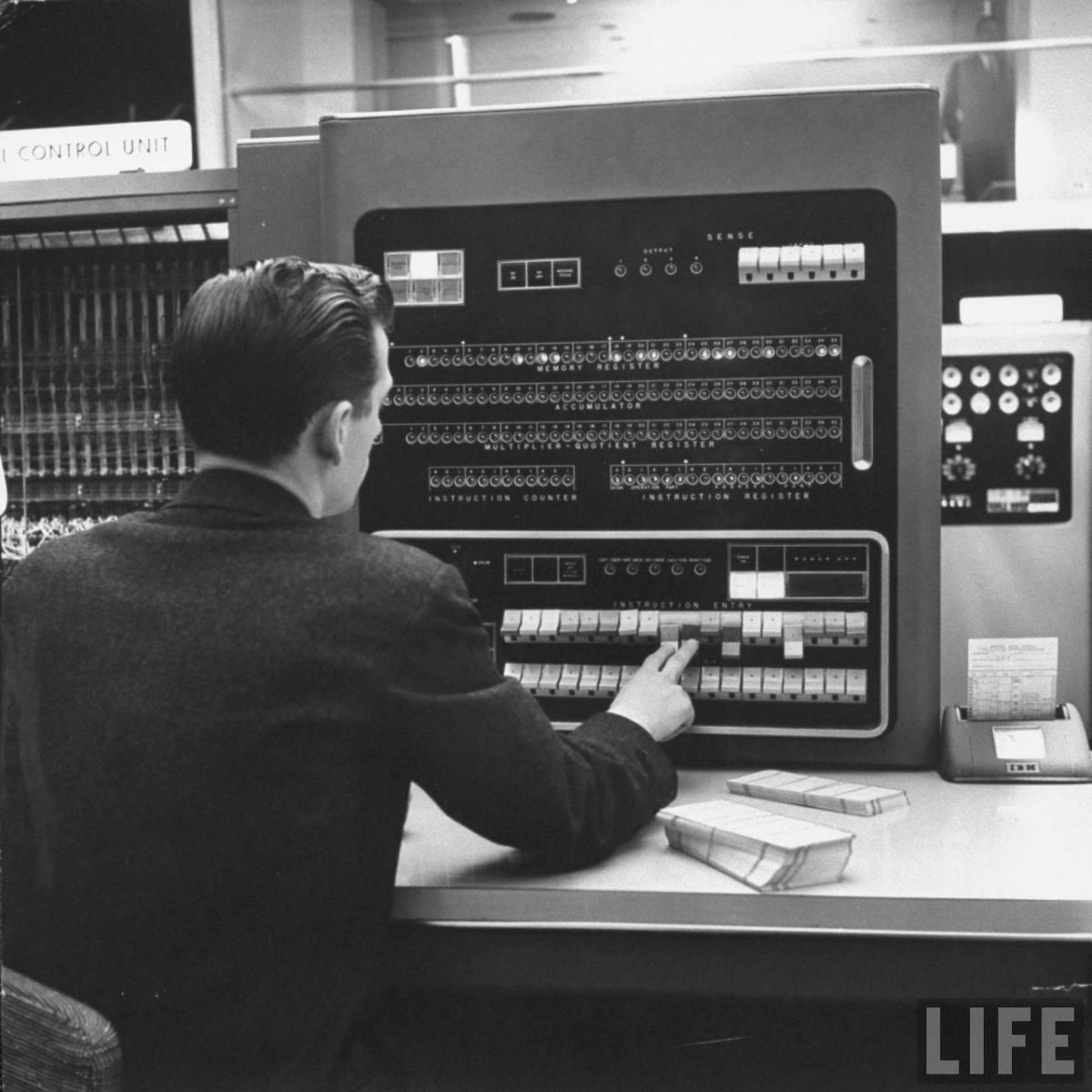 IBM 701 operator