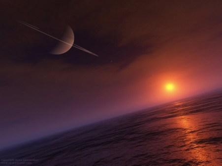 Saturno visto desde Titán