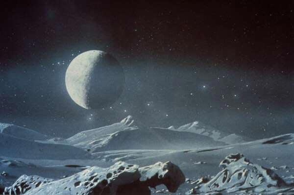 Recreacion artistica Pluton - NASA