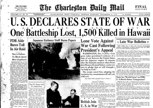 Prensa Especial Pearl Harbor 1941