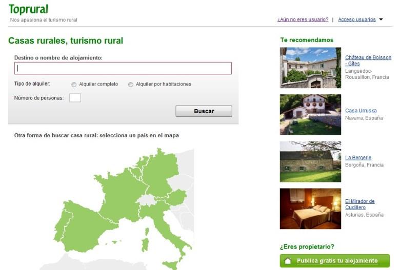 Casas rurales, turismo rural- Toprural