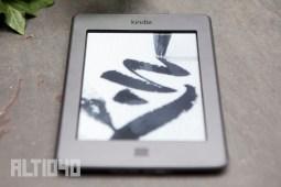 El borde en la pantalla de Kindle Touch