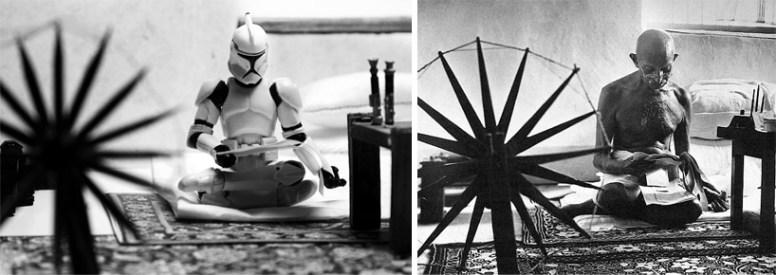 Star Wars - gandhi' (margaret bourke-white's portrait of gandhi spinning cotton)