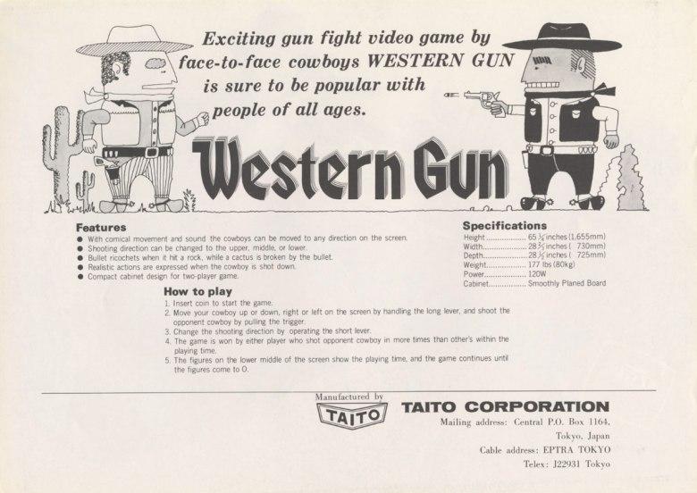 Western Gun Cartel promocional Taito