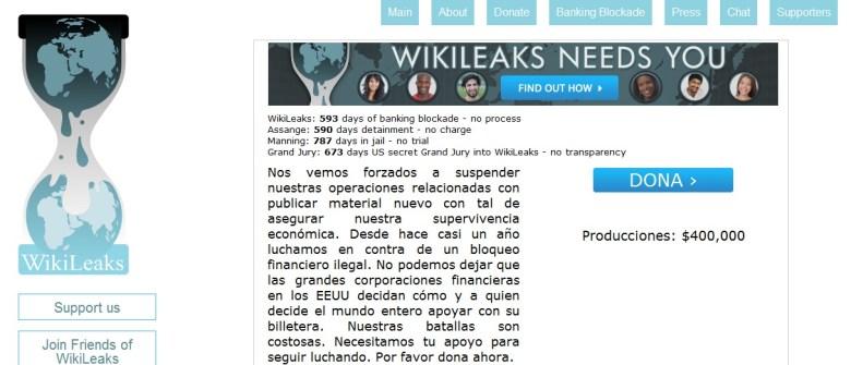 wikileaks donaciones