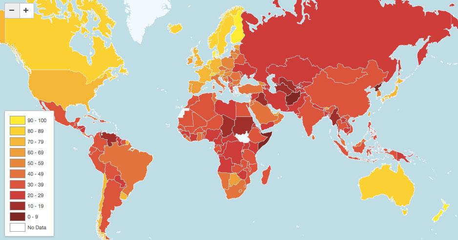 Corrupción en el planeta durante el 2012