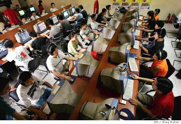 Ciber-café en China