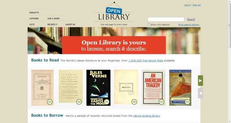 Open Library - libros electrónicos gratuitos